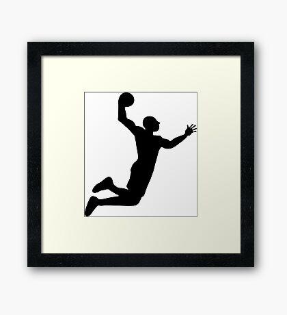 basket basketball dunk Framed Print