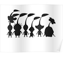 pikmin silhouette Poster
