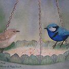 Spendid Wrens by Susan Moss