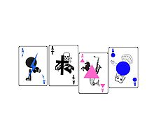 Through The Eras Playing Cards Photographic Print