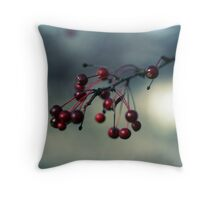 berry cold Throw Pillow