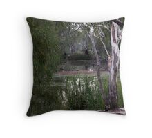 slowly meandering Throw Pillow