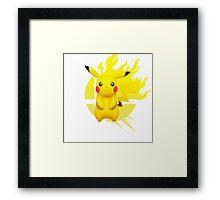 Super Smash Bros Pikachu 3ds/wii u Framed Print