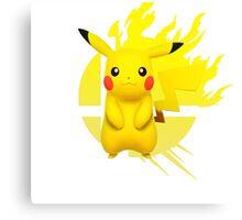 Super Smash Bros Pikachu 3ds/wii u Canvas Print