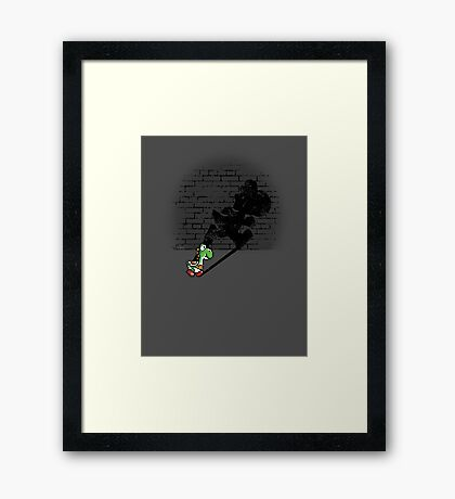 Becoming a Legend - Yoshi Framed Print