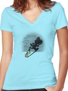 Becoming a Legend - Yoshi Women's Fitted V-Neck T-Shirt