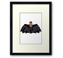 Timelord Doctor Who Framed Print