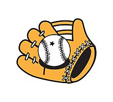 Cute Baseball mitt Photographic Print