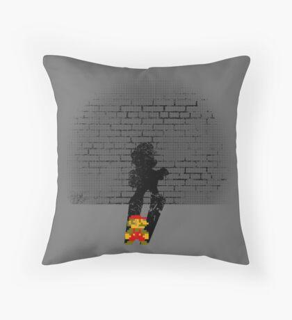 Becoming a Legend- Mario Throw Pillow