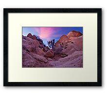 Dusk at Joshua Tree Framed Print