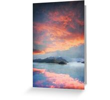 Sunset Over Lake Como Italy Greeting Card