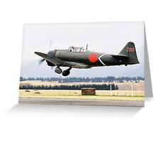 Mitsubishi  A6M  ZERO Greeting Card