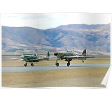 Supermarine  Spitfire &  Hawker  Hurricane ....THE  FEW Poster