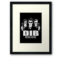 Doctors in Black Framed Print