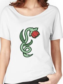 red flower tattoo Women's Relaxed Fit T-Shirt