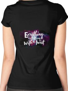 Everything is Nothing with a Twist - Kurt Vonnegut Women's Fitted Scoop T-Shirt