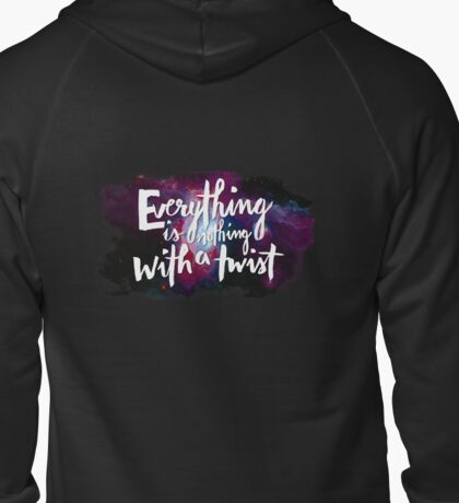 Everything is Nothing with a Twist - Kurt Vonnegut Zipped Hoodie