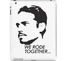 Paul Walker - We Rode Together (RIP) iPad Case/Skin