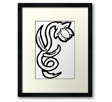 white  flower tattoo Framed Print