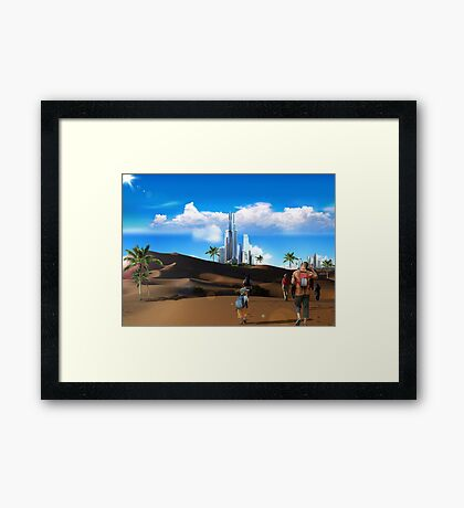 Treck Framed Print