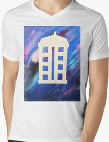 The Tardis Mens V-Neck T-Shirt