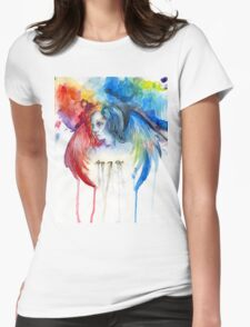 Give Me Love - Watercolor Womens Fitted T-Shirt
