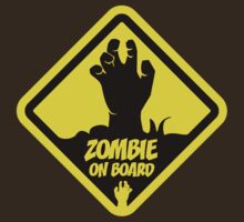 Zombie On Board Warning Sign T-Shirt