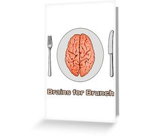 iZombie - Brains for Brunch Greeting Card