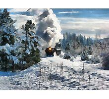 christmas train Photographic Print