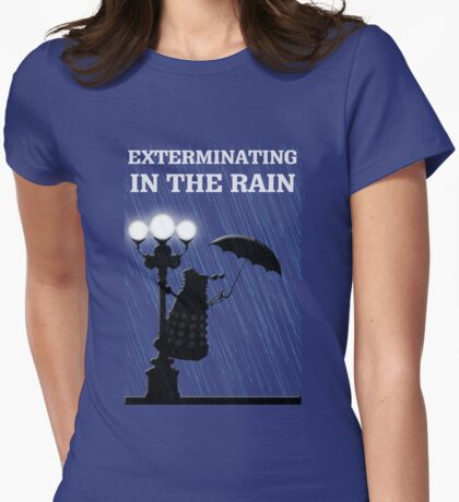 MusiKill in the Rain Womens Fitted T-Shirt