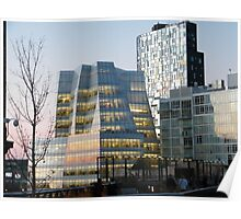 High Line View, Frank Gehry Building, New York Poster