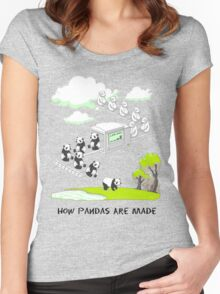 How Pandas Are Made Women's Fitted Scoop T-Shirt