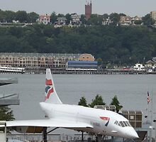 Vintage British Airways Concorde,  Intrepid Sea Air and Space Museum, New York City  by lenspiro