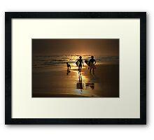 Surfer Dudes Framed Print