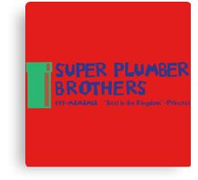 Super Plumber Brothers Canvas Print