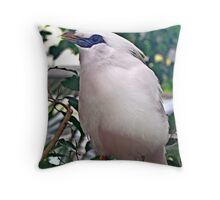 """ Bali Starling"" Throw Pillow"