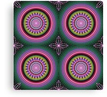 Colourful Mandala with tribal patterns Canvas Print