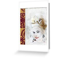 Marie Antoinette interpretation, artisti book Greeting Card