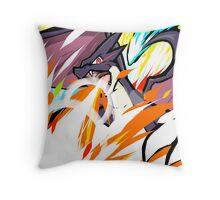 Shiny Mega Charizard Y   Overheat Throw Pillow