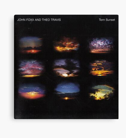 John Foxx - Torn Sunset Canvas Print