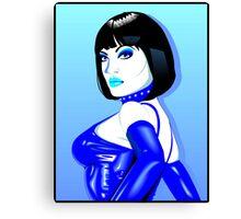 Jean Bardot in Blue Canvas Print