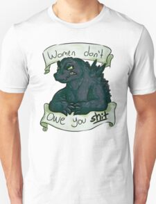 godzilla vs male entitlement  T-Shirt