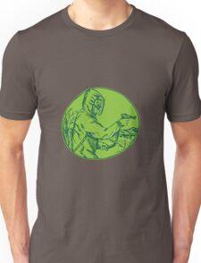 Herbicide Pesticide Control Exterminator Spraying Etching Unisex T-Shirt