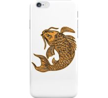 Koi Nishikigoi Carp Fish Jumping Etching iPhone Case/Skin