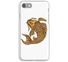 Koi Nishikigoi Carp Fish Jumping Etching iPhone Case/Skin