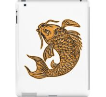 Koi Nishikigoi Carp Fish Jumping Etching iPad Case/Skin