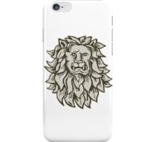 Angry Lion Big Cat Head Etching iPhone Case/Skin