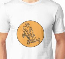 Rider Riding Soapbox Etching Unisex T-Shirt