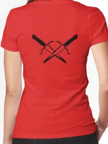 White Rogue Women's Fitted V-Neck T-Shirt