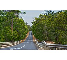 South Western Highway on the way to Denmark Western Australia Photographic Print